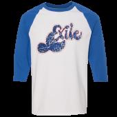 Exile White and Royal Baseball Tee